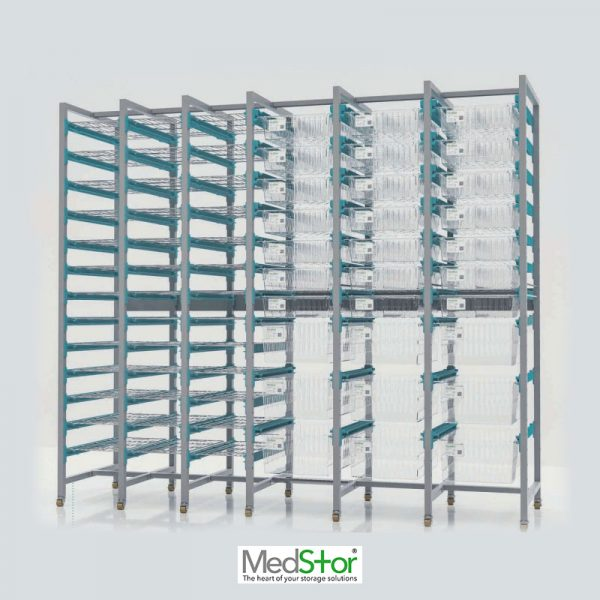 High Density Wrap Container Set Shelving